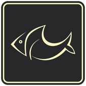 Fish - vector icon, sign — Stock Vector