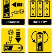 Battery charge - vector sign — Stok Vektör