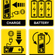 Battery charge - vector sign — Stockvectorbeeld