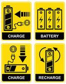 Carica batteria - segno di vettore — Vettoriale Stock