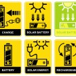 Royalty-Free Stock Vector Image: Solar battery, charge, recharge