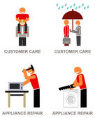 Customer service icons — Stock Vector