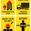 Construction area signs - Stock Vector