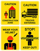 Construction area signs — Stock Vector
