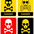 Skull - danger sign - Stok Vektr