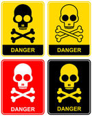 Skull - danger sign — Stock Vector