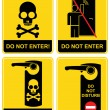 Do not enter - sign. - Stock Vector