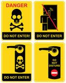Do not enter - sign. — Stock Vector