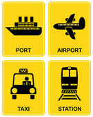 Airport, station, taxi, port — Stock Vector