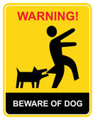 Warning - beware of dog — Stock Vector