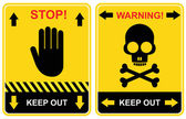 Stop, keep out - sign — Stock Vector