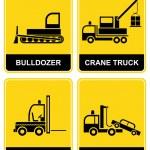 Bulldozer, crane, tow truck, forklift — Stock Vector #2303191