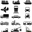 Transport and vehicles — Stockvektor