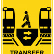 Transfer - vector sign - Stock Vector