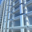 Royalty-Free Stock Photo: Blank glass facade of office building