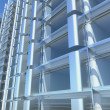 Stock Photo: Blank glass facade of office building