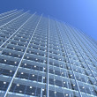 Blank glass facade of curved office buil — Stock Photo