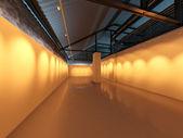 Empty blank gallery exhibition interior — Stock Photo