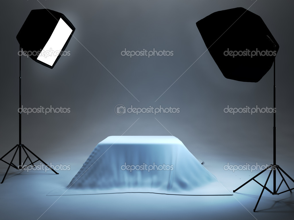 Photo studio setup for object photo — Stock Photo #1487968