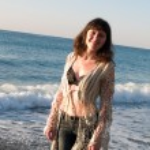 Beautiful lady in Bikini on Beach Sunset — Stock Photo