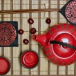 Oriental tea ceremony set - Stock Photo