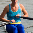 Rowing girl — Stock Photo #1077708