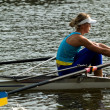 Rowing girl — Stockfoto