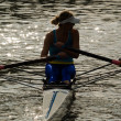 Rowing girl — Stock fotografie