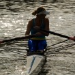 Rowing girl — Foto de Stock