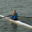 Rowing girl - Stock Photo