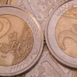 Euro Coins Close-up — Stock Photo #1078209