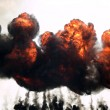 Explosion fire and smoke — Stockfoto