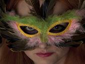 Žena v masce — Stock fotografie