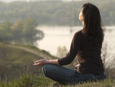 Meditating woman — Stock Photo