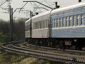 Train on curve — Stock Photo