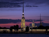 St. Petersburg at night — Stock Photo
