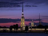 санкт-петербург ночью — Стоковое фото