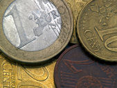 Euro Cents Close-up — Stock Photo