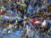 Crowd of fans on the stadium — Stock Photo