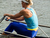 Rowing girl — Stock Photo
