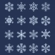 Stock Vector: Simple Snowflake Shapes (Set #1)