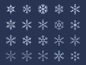 Snowflake Icon Set — Stock Vector