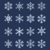 Simple Snowflake Shapes (Set #1) — ストックベクタ