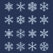 Simple Snowflake Shapes (Set #2) — Stock Vector
