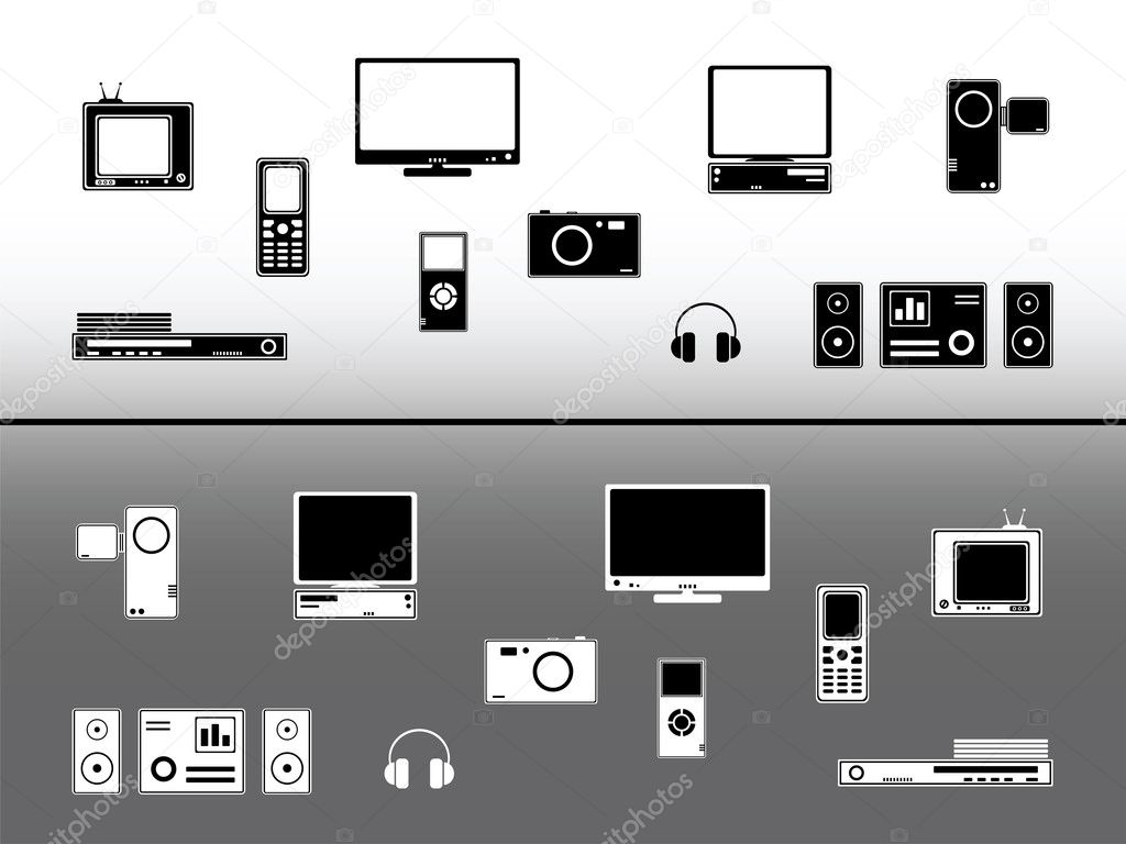 Electronic devices. Technology and communication design elements  Stock Vector #1011941