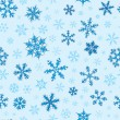Stock Vector: Seamless Snowflakes Pattern