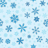 Seamless Snowflakes Pattern — Stock Vector