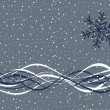 Vector de stock : Simple Winter Background
