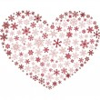 Royalty-Free Stock Vector Image: Snowflake heart