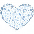 Stock Vector: Snowflake heart